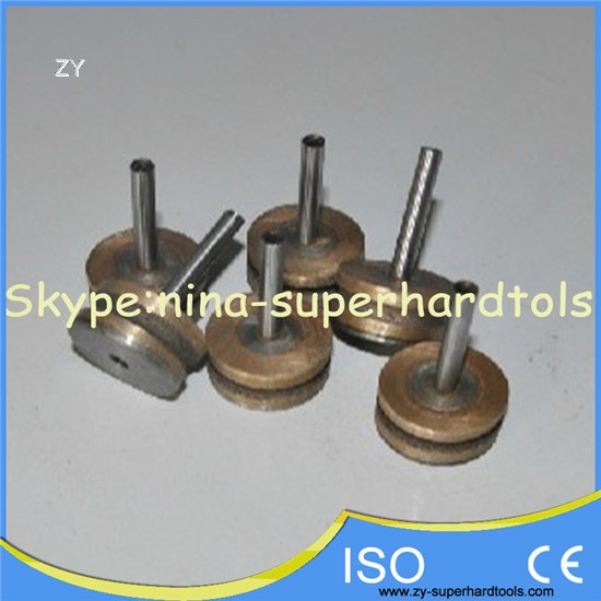 Metal mounted grinding for car glass