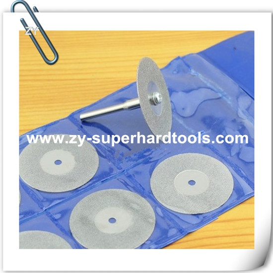 Electroplated diamond polishing blades