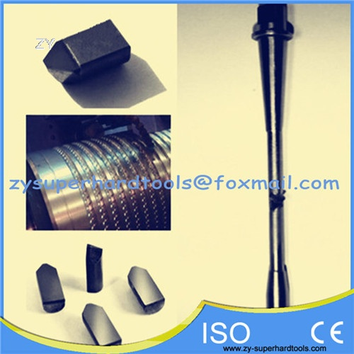 PCD boring cutters for rollers
